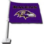 Raven Car Flag